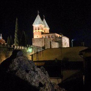 Puerta de Bisagra vista desde la Puerta de Alfonso VI